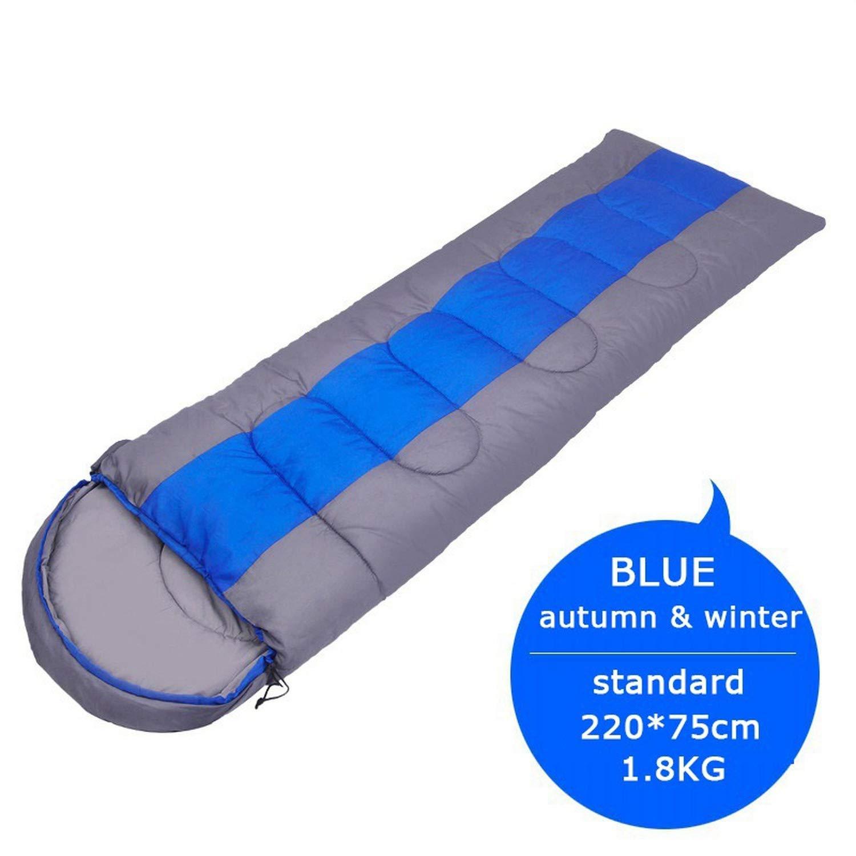 Standard 1.8KG1 Size Camping Sleeping Bag, Lightweight 4 Season Warm & Cold Envelope Backpacking Sleeping Bag for Outdoor Traveling Hiking