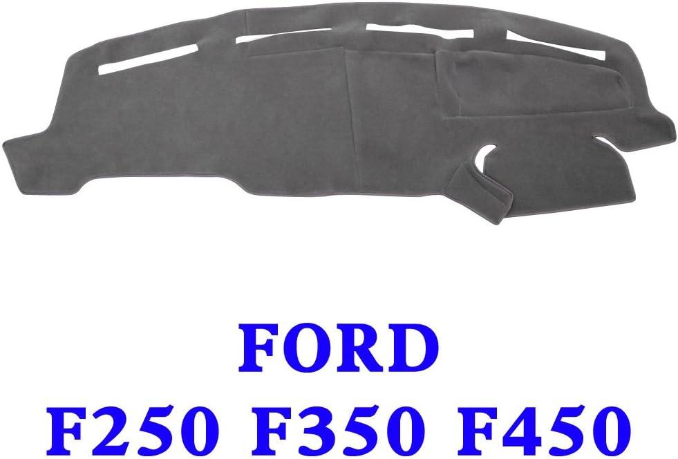 JIAKANUO Auto Car Dashboard Carpet Dash Board Cover Mat Fit Ford F250 F350 F450 1999-2004 (Gray MR-072)