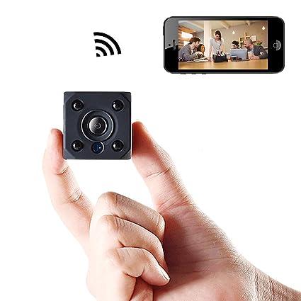 Mini cámara espía inalámbrico oculto, Bysameyee WiFi HD 720P niñera cámara DVR con detección de