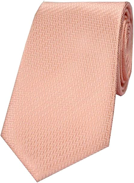 David Van Hagen - Corbata de seda para hombre, color melocotón ...
