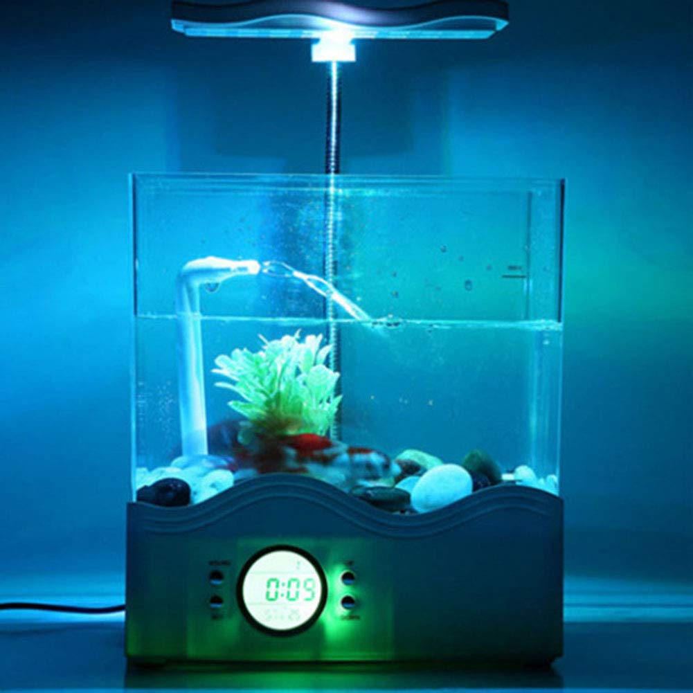 Suna Mini Aquarium Eco Aquarium USB Lámpara De Mesa Caja De Peces ...