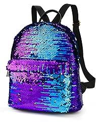 Zicac Bling Sequin Backpack Fashion Sling Bag Travel Daypack For Girls Women