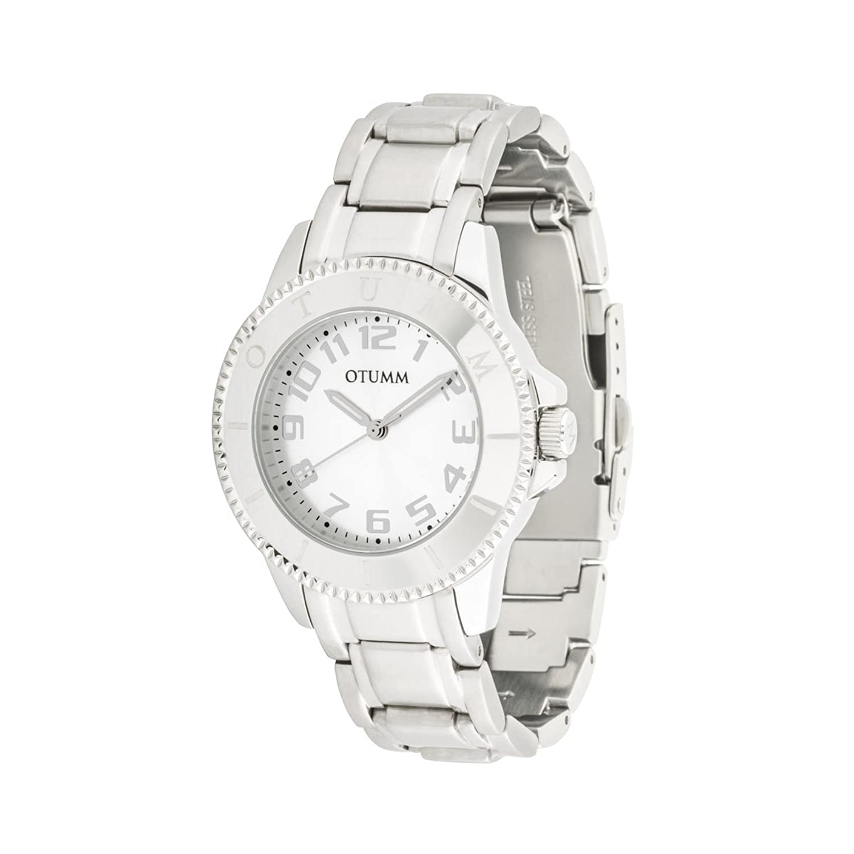 OTUMM Damen-Armbanduhr Ibiza 38 mm - silber Analog Quarz Edelstahl 00177