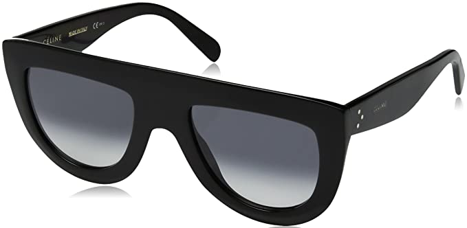 Céline Andrea 807 Gafas de sol, Black/Dark Grey Degrade, 52 ...