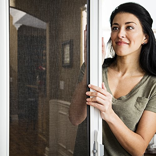 ODL Brisa Premium Retractable Screen for 96 in. Inswing/Outswing Hinged Doors - Sandstone by ODL (Image #4)