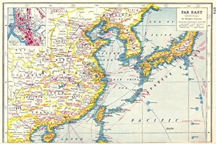 Map Of The East Asia.Amazon Com East Asia Agricultural Mineral Products China Japan