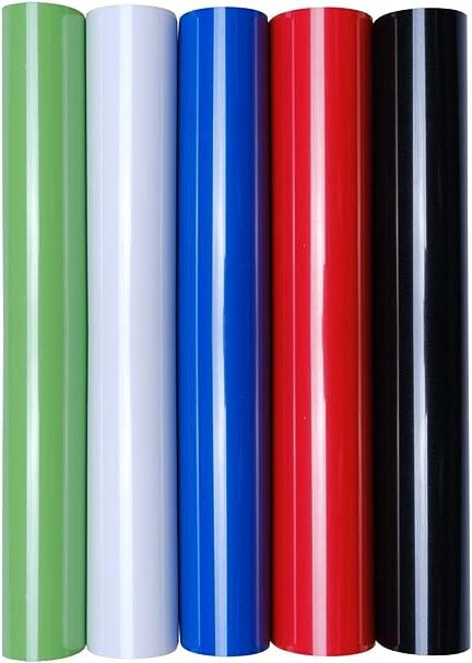 5 láminas de transferencia A4 para planchar sobre textiles, perfectas para plotter, P.S. Film:5er Set Standard Colours: Amazon.es: Oficina y papelería