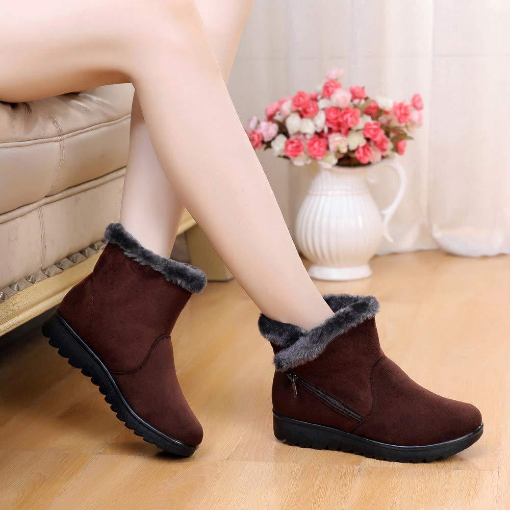 Zapatos de Mujer Botines Mujer Botas, JiaMeng Tobilleras de Invierno Botas Cortas para la Nieve Calzado de Piel Calzado cálido de Mujer rebajada Botas de ...