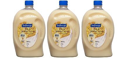 Softsoap Liquid Hand Soap Refill, Milk & Golden Honey, 56 Fluid Ounce (3 Pack)