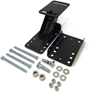 The ROP Shop Spare Tire Wheel Carrier Kit with Hardware, Bolt on for Enclosed Utility Trailer