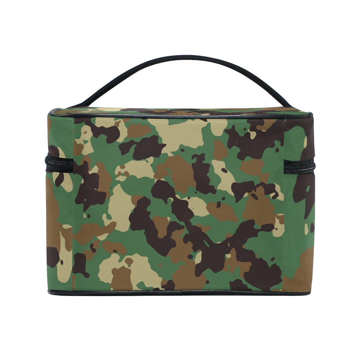 Military Camo Camouflage Pattern Print Travel Makeup Toiletry Organizer Case Cosmetic Bag