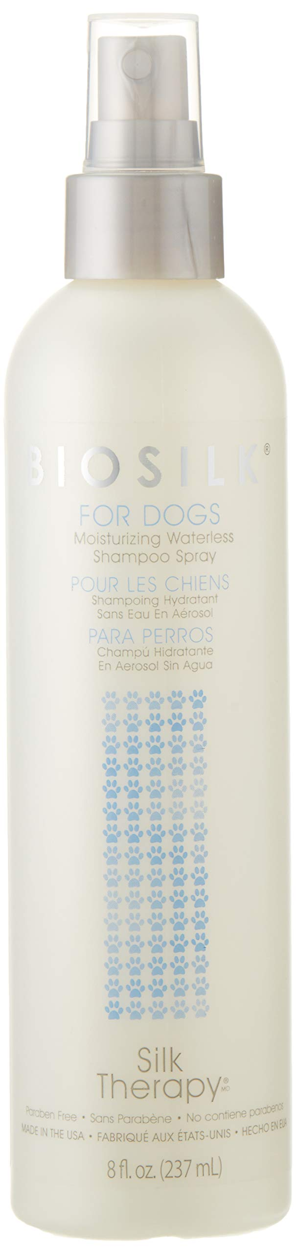 BioSilk for Dogs Silk Therapy Deep Moisture Waterless Shampoo Spray | Best Waterless Shampoo Spray For All Dogs and Puppies, Pack of 2 by BioSilk for Pets (Image #1)