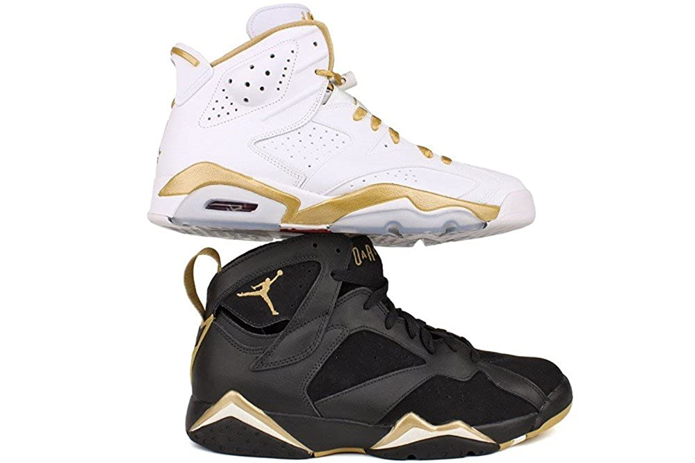 online retailer 38200 bc0ae Amazon.com   Nike Air Jordan 6+7 Retro Olympic - Golden Moment Pack  (535357-935) mens Shoes   Basketball