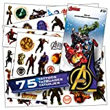 Avengers Tattoos - 75 Assorted Avengers Infinity War Temporary Tattoos Bundled With 1 Jumbo Avengers Sticker Decal