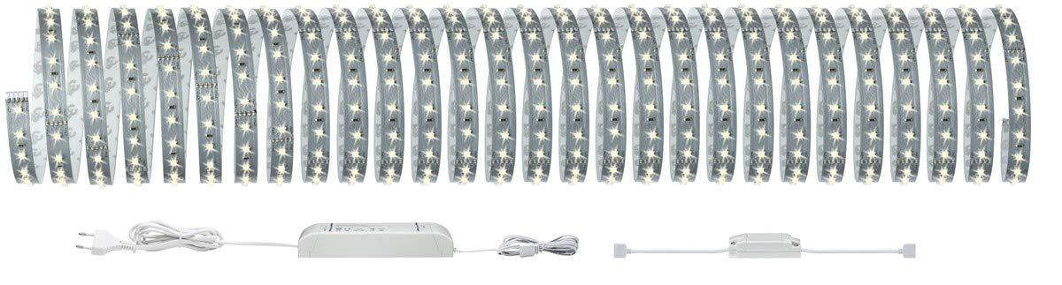 230//24V 2700K blanc chaud Bluetooth Paulmann 70907 Function MaxLED 500 Kit de base 10m Argent 53,5W