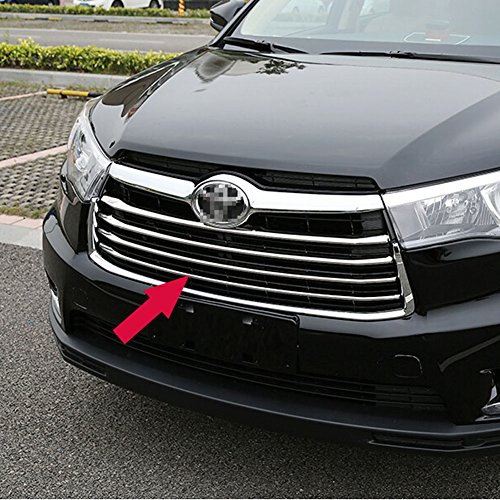 - Generic Chrome Front Grill Grille Cover Trim Fit For Toyota Highlander 2014 2015 2016 -4PCS
