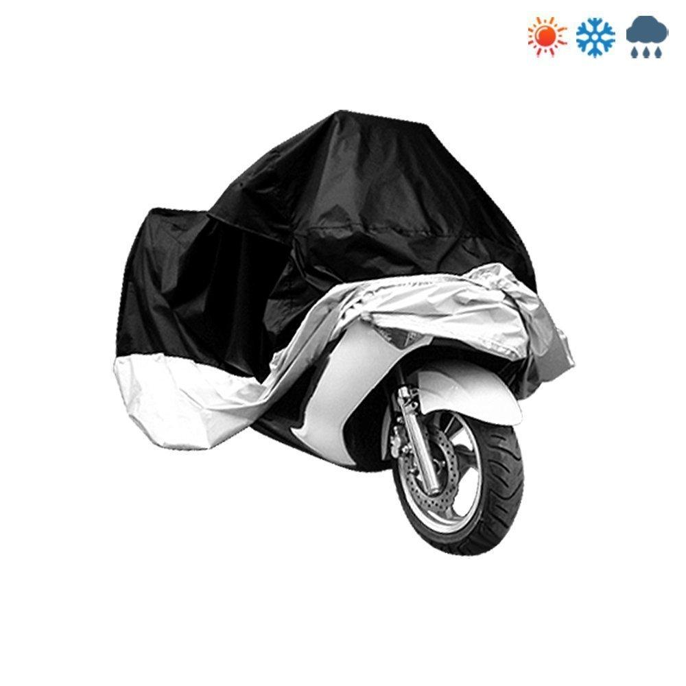 295cm Noir et argent icase4u Housse de protection pour moto XXXL