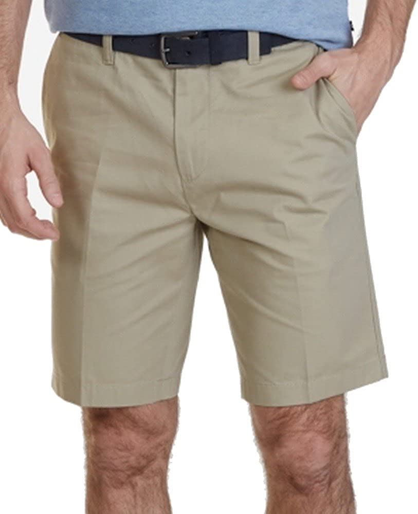 Nautica Slim Fit Cotton Twill Flat Front Chino Short