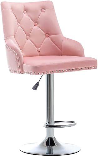 Brisk-Bun Furniture Velvet Bar Stools Chairs Modern Adjustable Lift Swivel Conference Desk Chair Counter Stool