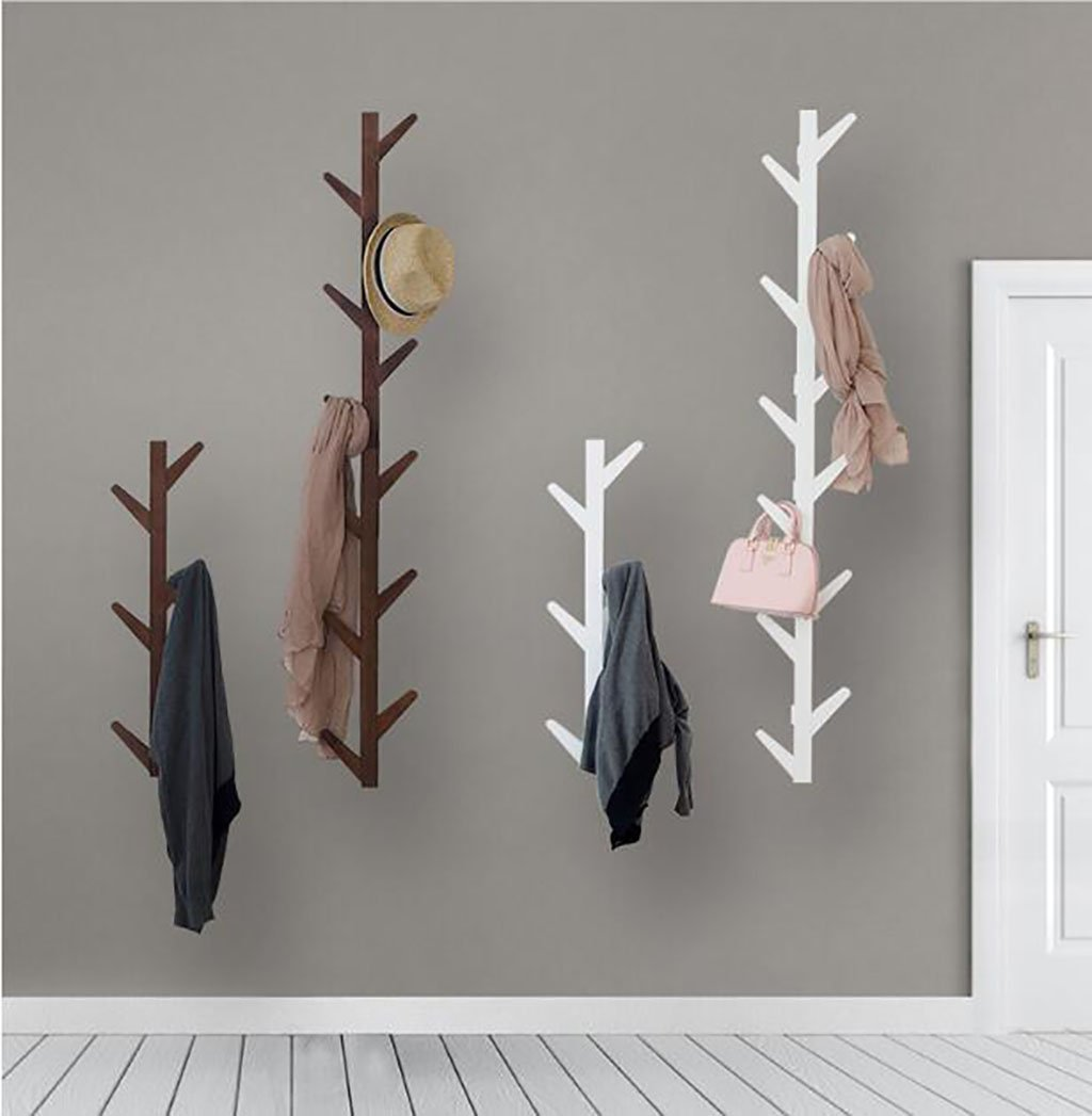 Ymj Coat Rack Garment Hanger Creative On The Wall Solid Wood Hook Hanger Bedroom Wall Living Room Wall Hanger Drying Racks (Color : B, Size : 72278cm) by Ymj (Image #8)
