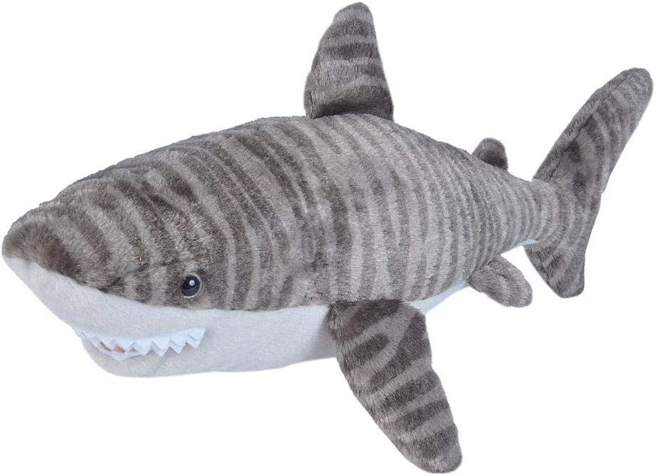 Wild Republic Tiger Shark Plush, Stuffed Animal, Plush Toy, Gifts for Kids, Cuddlekins 20 inches