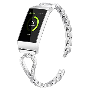 Amazon com: WISLECT Bands Compatible Charge 3 Fitbit Watch Band for
