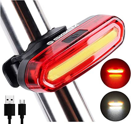 6 LED Bike Light Front Headlight USB Rechargeable Bicycle Caution Tail Rear Lamp