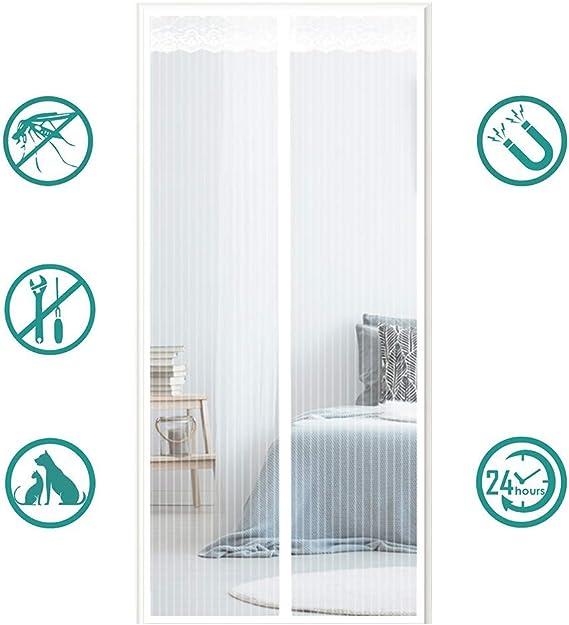 Magn/étique Moustiquaire Porte Fermeture Automatique Pour Couloirs Portes Patio Rideau Anti Moustique Bogues Installation Facile Sans Outils Rideau de Porte Anti-moustique