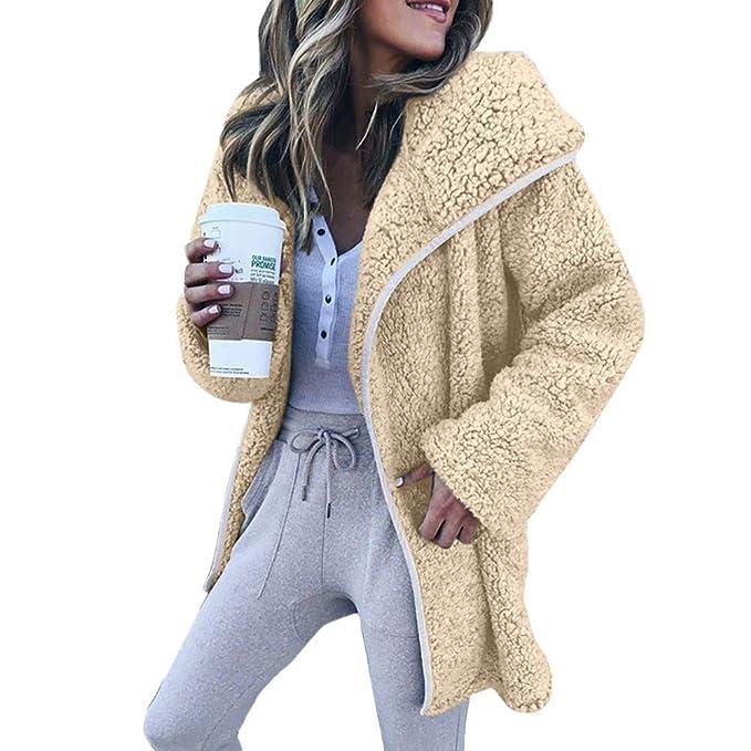 Abrigos de otoño Invierno, Dragon868 Mujeres de Manga Larga Sudaderas de Lana suéter Informal Abrigos cálidos: Amazon.es: Ropa y accesorios