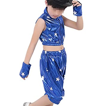 Tenthree Niña Danza Conjuntos de Pantalones - Niños Niño Estrella Trajes  Conjuntos Escenario Jazz Hip Hop 9643a180afb