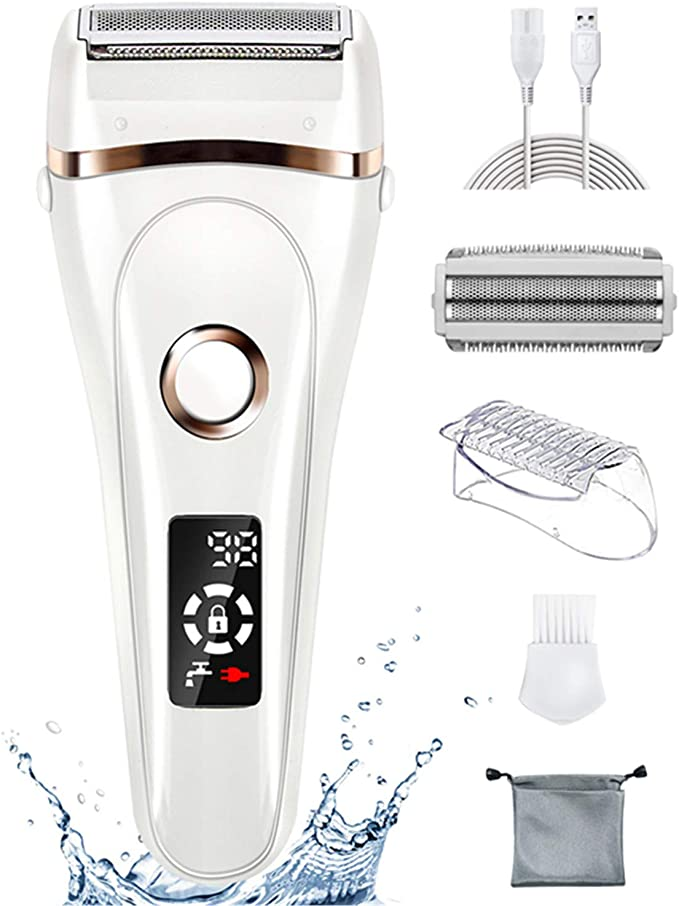 Afeitadora eléctrica FAMATE para mujeres, maquinilla de afeitar ...