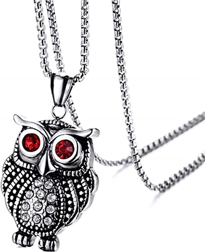 Mother/'s Day Gift for Her Green Necklace Gold Tone Necklace Owl Jewelry Pendant Necklace Owl Necklace Owl Gifts Metal Jewelry