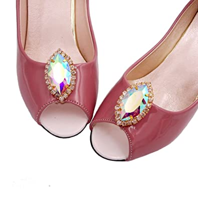 Santfe rhinestone crystal shoes clips wedding party high heel shoe santfe rhinestone crystal shoes clips wedding party high heel shoe buckle clip decoration accessories style 1 amazon jewellery junglespirit Image collections