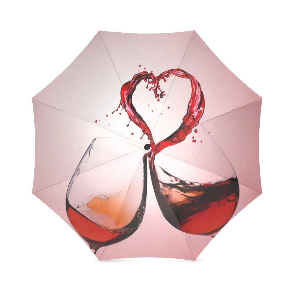 Custom Grape Wine Compact Travel Windproof Rainproof Foldable Umbrella on sale
