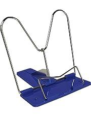 Idena 20007 - Leseständer, Metallbügel in silber, Standfuß in blau, grün oder rot, Farbauswahl nicht möglich, 1 Stück