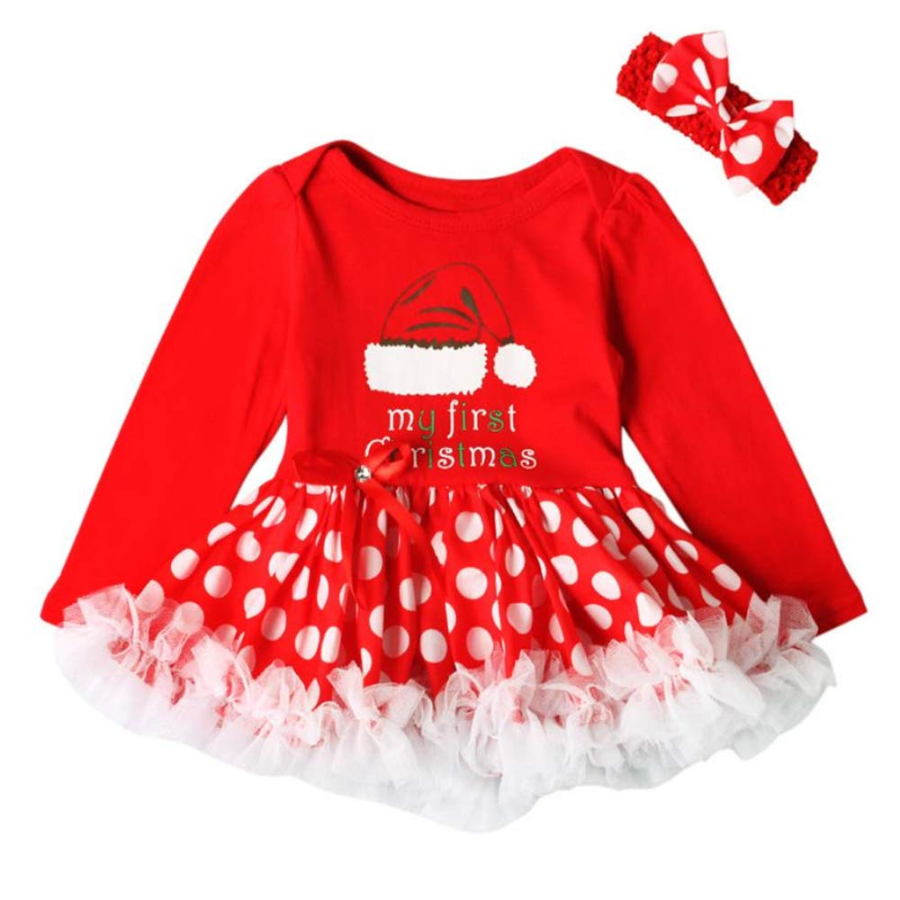 Toddler Baby Boys Girls Christmas Deer Dress Kids Cartoon Sleeves Fashion Dress
