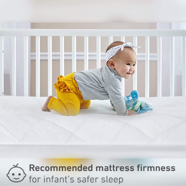 atmungsaktiv und antiallergisch passend f/ür die meisten Graco//M/&P Kleinkind-Reisebetten extra dick gesteppt 93 x 64 x 6 cm Gax Sports Babybett-Matratze aus Schaumstoff wasserabweisend