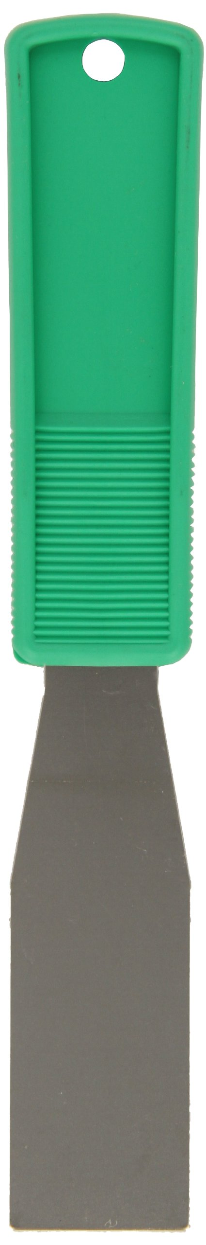 Impact 3202 Stainless Steel Putty Knife with Polypropylene Handle, 8'' Length x 1-1/4'' Width, Green (Case of 100)