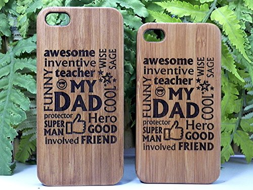 My Dad iPhone 8 Case/Cover by iMakeTheCase | Father Gift on Eco-Friendly Bamboo Wood | Dads Daddy Man Husband | Birthday Father's Day Present.