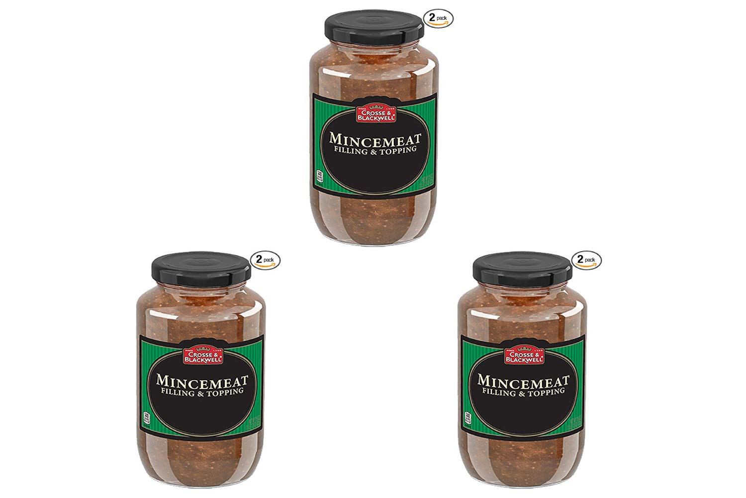 Crosse and Blackwell Mincemeat Plain 29 Ounce 2 Count (3 Pack)