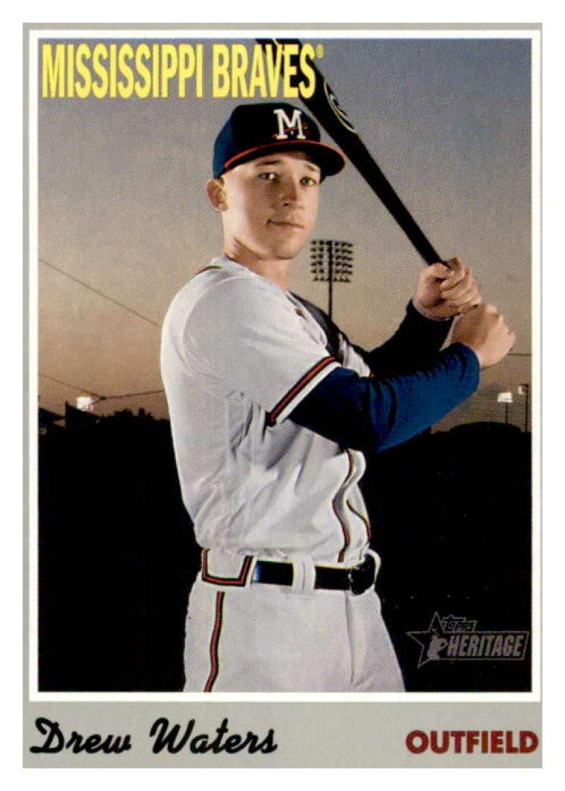 2018 Topps Heritage Minor League Edition #72 Drew Waters Rome Braves Rookie Card