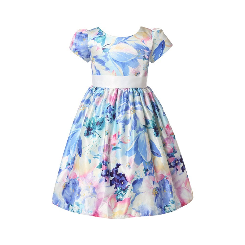 Amazon Weileenice Girls A Line Dresses Short Sleeve Flower