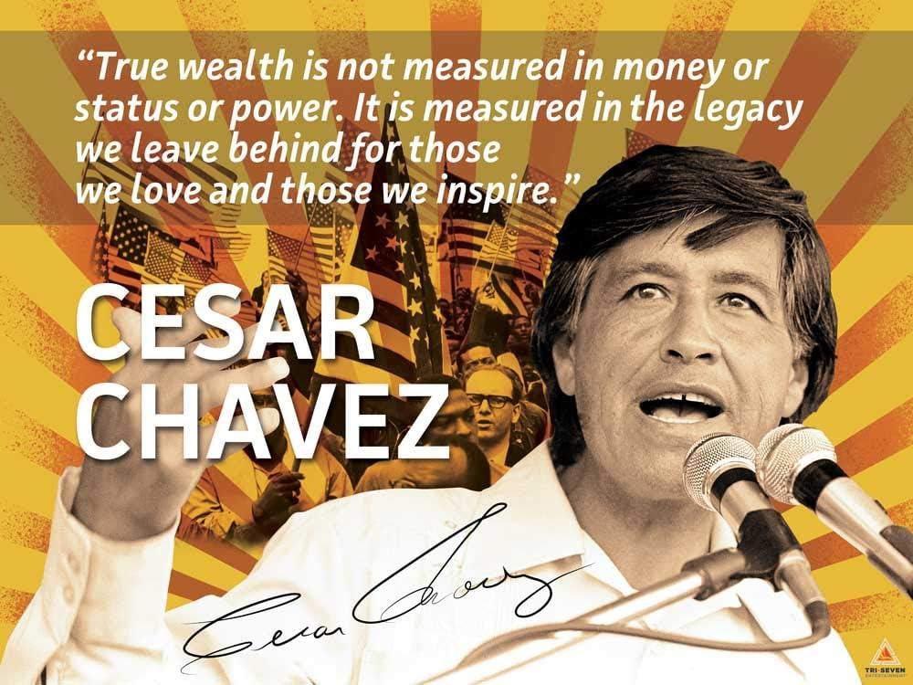 Amazon Com 777 Tri Seven Entertainment Cesar Chavez Poster Quote Labor Activist Education Art Print 24x18 Multicolor Ccpqlaeap2418 Posters Prints