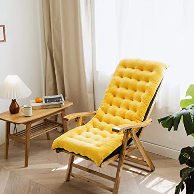LiKin Outdoor Garden Cushion Recliner Cushion High Back Chair Cushion,Patio Rattan Chair Patterned Furniture Pillow Lightweight Comfy (Color : Yellow, Size : 100x40x8cm): Home & Kitchen