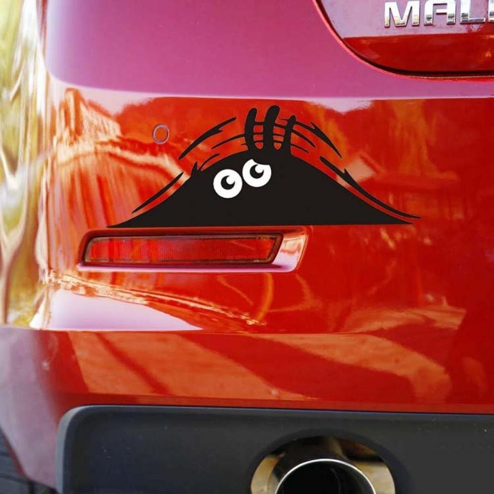 Car Sticker,FTXJ Novelty Eyes Peeking Voyeur Monster Car Body/Window Decal (Black) by FTXJ (Image #3)