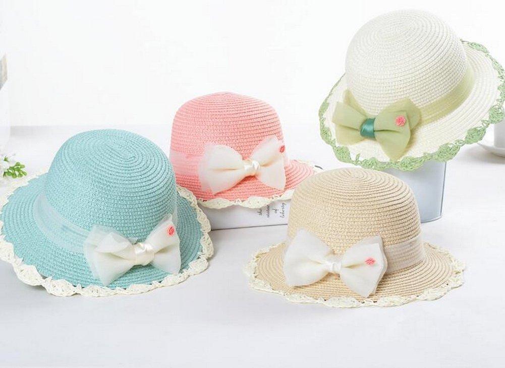 Sombrero de las 6157 paja de la playa de las sombrero muchachas ...