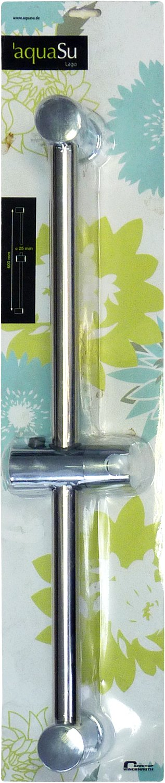 Chrome Aquasu 72570 5 Barre de douche Lago /Ø 25 mm x 60 cm