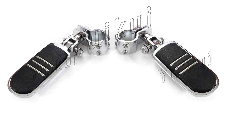 YUIKUI RACING オートバイ汎用 1-1/4インチ(32mm)/1インチ(25.4mm)エンジンガードのパイプ径に対応 ハイウェイフットペグ タンデムペグ ステップ CAN-AM(モデル2008-2012年のを除く) All years等適用   B07Q2FJQ12