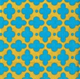 Entertaining with Caspari Dabney Lee Tile Paper Cocktail Napkins, Turquoise, Pack of 20