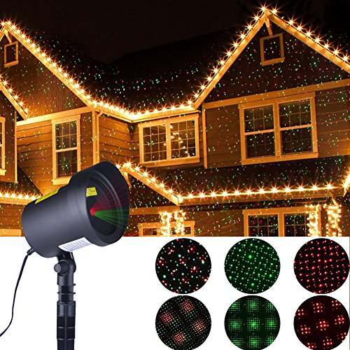 Xmas Lights Outdoor Christmas Projector Star Laser Motion Lights for Garden Christmas Decoration As Seen on TV, Auto Pattern Beam Holiday Party Lighting Landscape Shower